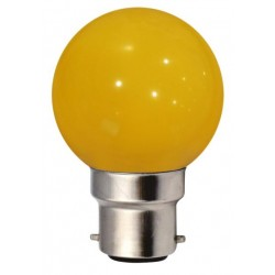 Ampoule G45 B22 1W JAUNE...