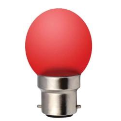 Ampoule G45 B22 1W ROUGE...