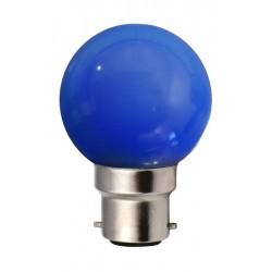 Ampoule G45 B22 1W BLEU...