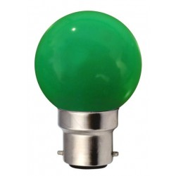 Ampoule G45 B22 1W VERT...