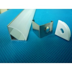 Profil opalin angle 90° 1mètre